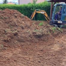 Terénna úprava - tvorba záhradnej terasy, Nitra